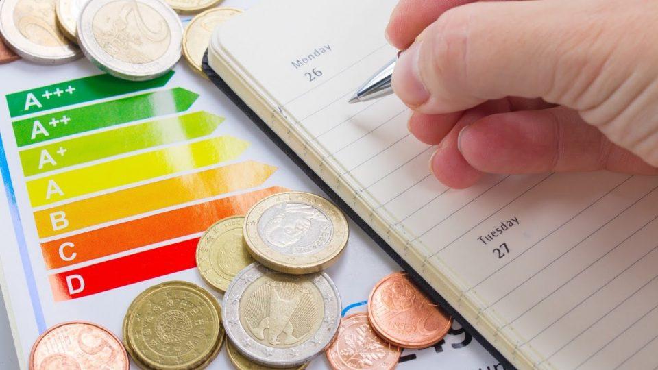 Energiatehokkuusmerkintätarra, säästettyä rahaa sekä muistiinpanoja