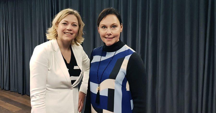 Henna Virkkunen ja Annemari Virolainen