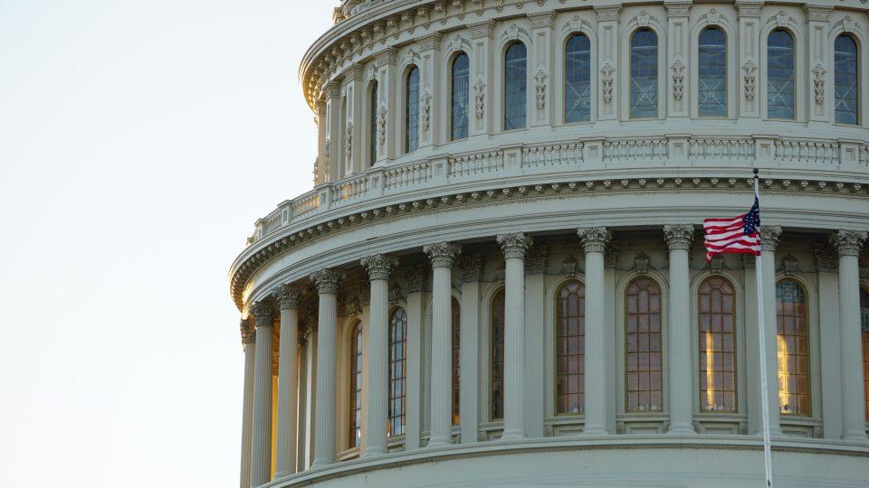 Capitol-rakennuksen kupoli Washingtonissa.