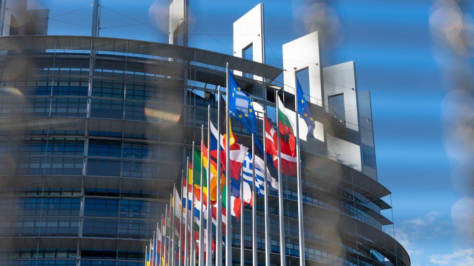 Euroopan parlamentin rakennus Strasbourgissa.