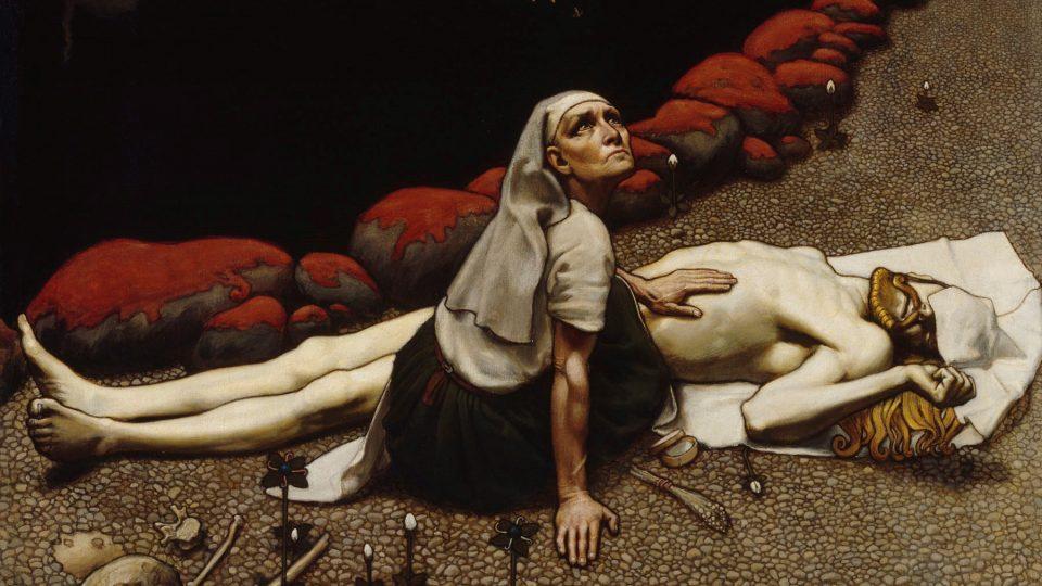 Akseli Gallen-Kallelan maalaus Lemminkäisen äiti vuodelta 1897.